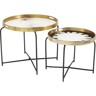Mystic Flower 2 Piece Tray Table Set By KARE Design