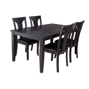 Aden 5 Piece Solid Wood Dining Set