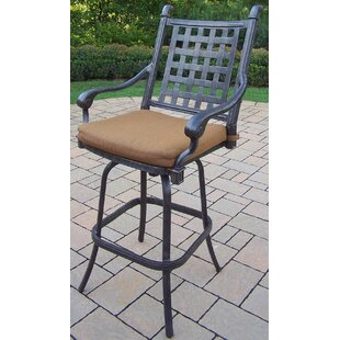 Vandyne Patio Bar Stool with Cushion (Set of 2)