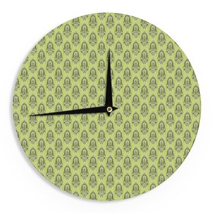 Holly Helgeson 'Deco Flourish' 12 Wall Clock by East Urban Home