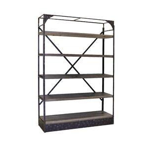 Desarae Rustic Metal Etagere Bookcase 17 Stories