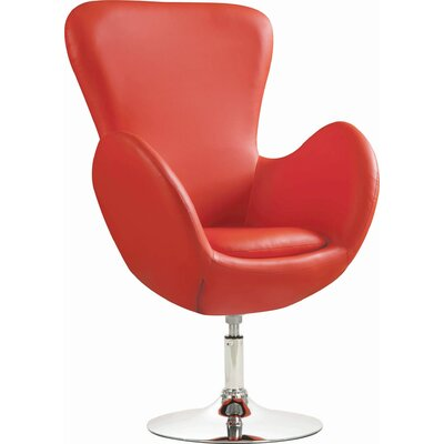 Contemporary Red Swivel Accent Chair Decor+