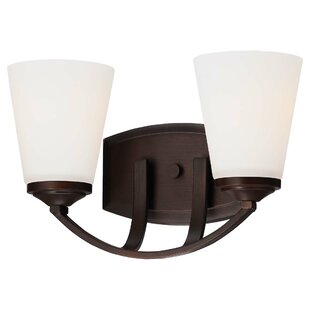 Alcott Hill Parish 2-Light Vintage Bronze Vanity Light