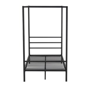 Gasburg Metal Twin Canopy Bed
