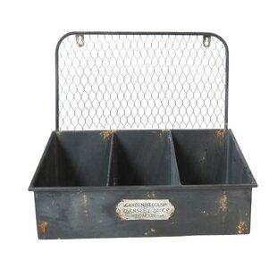 Hickman Metal Galvanized Planter Box By Borough Wharf
