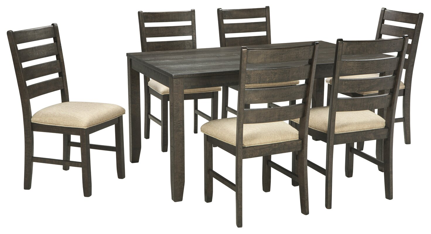 rokane 7 piece dining set - Dining Set Furniture