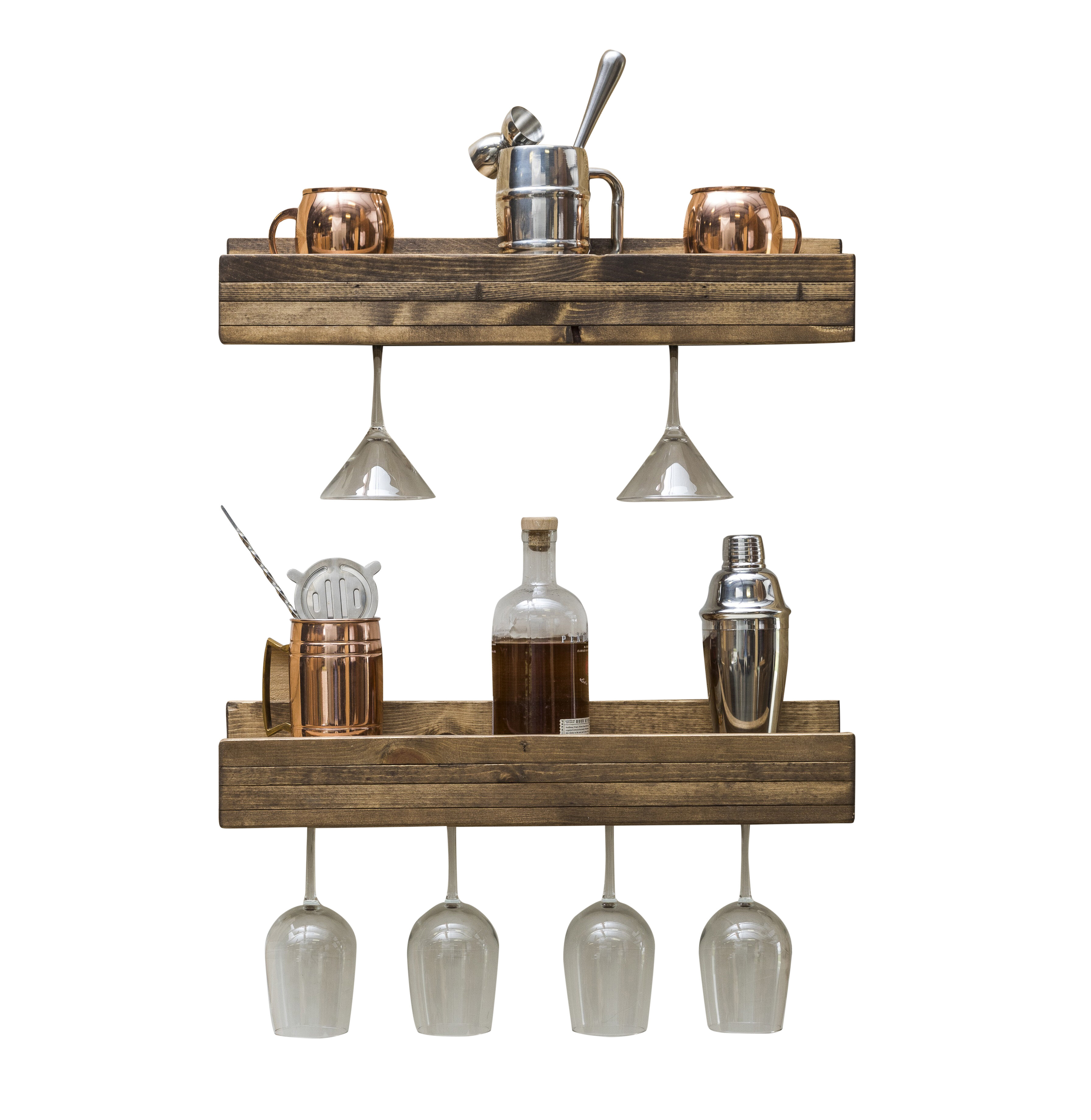 Gatton Wall Mounted Wine Glass Rack Reviews Allmodern