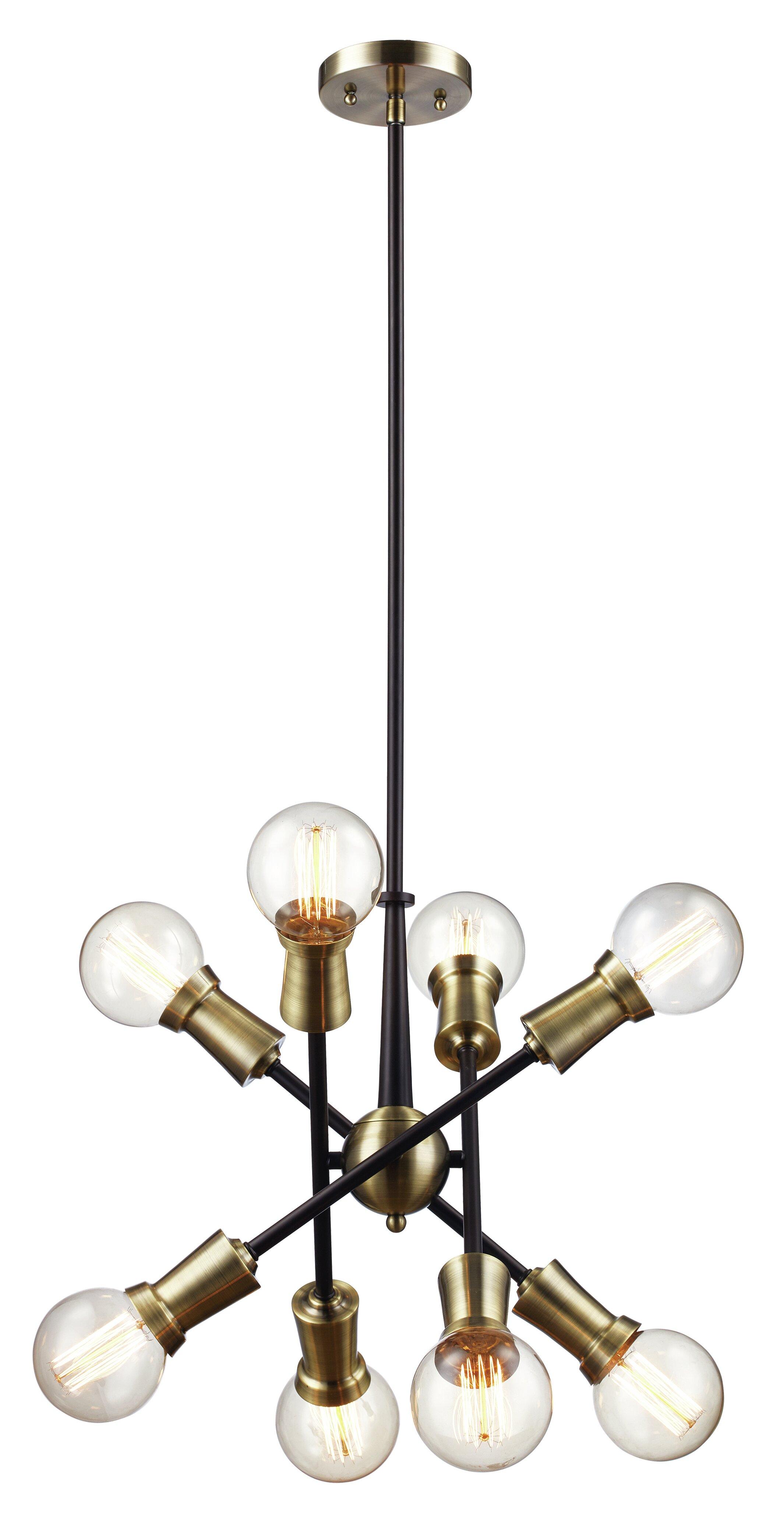 nikoll vintage rupert large stejnar by emil for chandelier glass brass sputnik