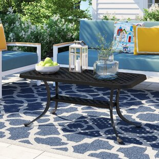 Carmen Cast Aluminum Rectangular Coffee Table by Sol 72 Outdoor Coupon