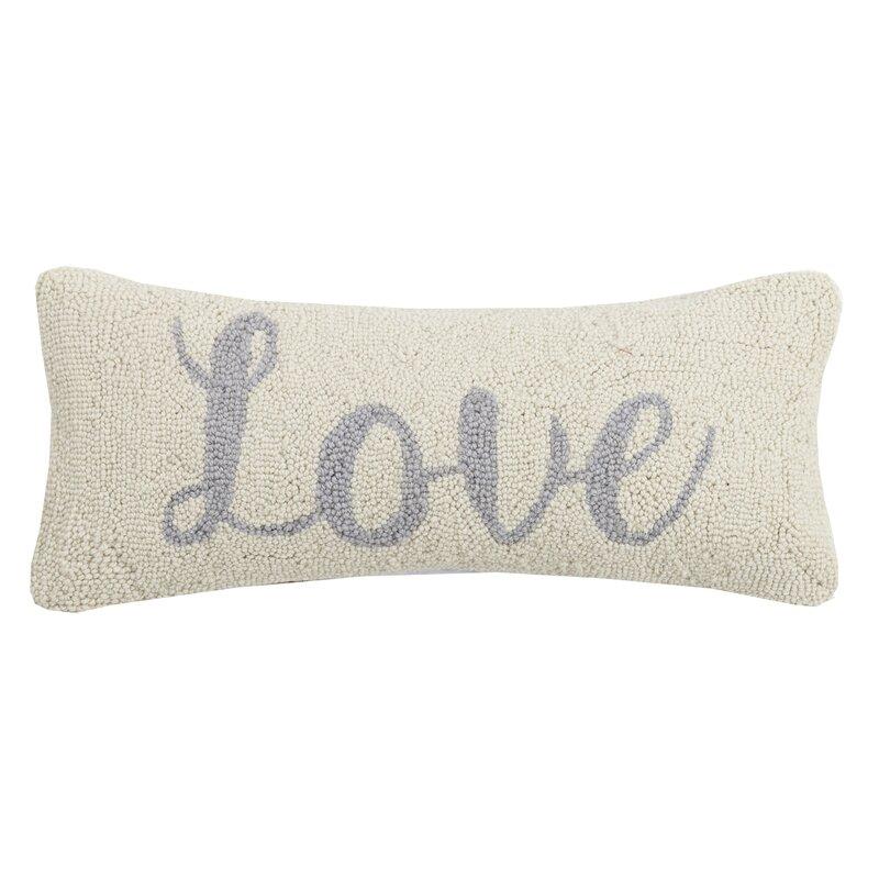 Gracie Oaks Bussey Love Wool Throw Pillow Wayfair
