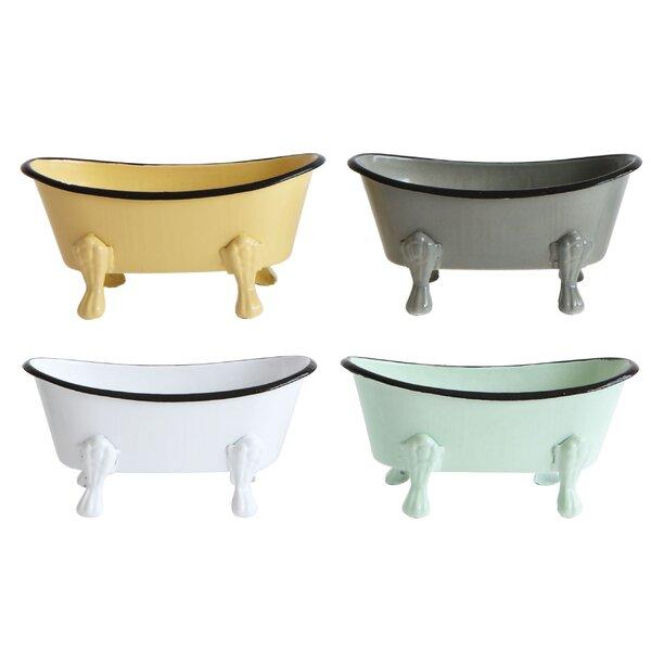 Silver Circular Antique Soap Dish Holder Resin Bath Tray Vintage Charm Bathroom