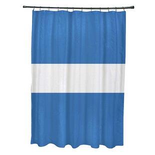 e by design Narrow the Gap Stripe Print Shower Curtain