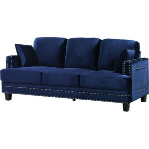 Dia Modern Nailhead Sofa by Willa Arlo Interiors