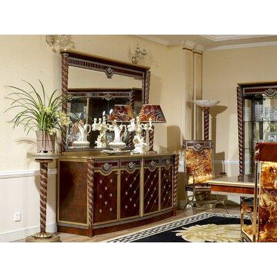 "Infinity Furniture Import Zeus 84.6"" Wide 4 Drawer Beech Wood Sideboard"