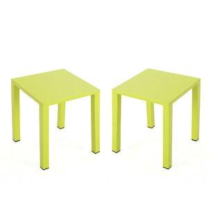 Alpine Rust-Proof Aluminum Side Table (Set of 2)