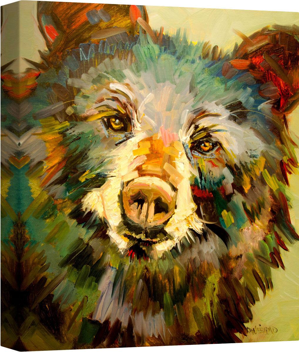 Ashton Wall Décor LLC \'Bruno Bear\' Painting Print on Canvas | Wayfair