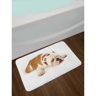 Sad English Bulldog Bath Rug