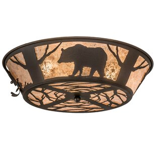 Meyda Tiffany Wildlife on the Loose 4-Light Flush Mount