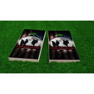 Custom Cornhole Boards POW Theme Cornhole Game Set
