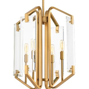 Mercer41 Janessa 4-Light Geometric Chandelier