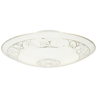 Nassau 2-Light Semi-Flush Mount by Alcott Hill