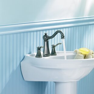 Find a Vestige Widespread High Arc Bathroom Faucet with Optional Pop-Up Drain ByMoen