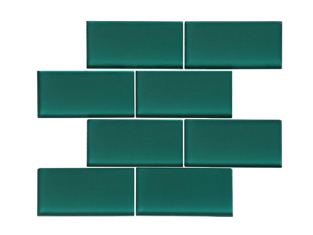 Ws tiles premium series 3 x 6 glass subway tile in glossy dark premium series 3 x 6 glass subway tile in glossy dark teal dailygadgetfo Image collections