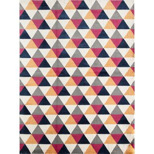 Inexpensive Jacee Tribal Peppery Red/Orange/White Area Rug ByCosmoLiving by Cosmopolitan