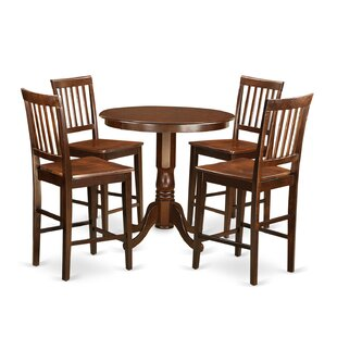Jackson 5 Piece Counter Height Pub Table Set Wooden Importers