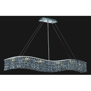 Kasha 7-Light Crystal Chandelier by Everl..