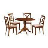 Kaylee 5 Piece Drop Leaf Solid Wood Dining Set by Alcott Hill®