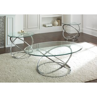Wade Logan Ashley Down 3 Piece Coffee Table Set