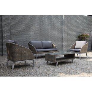 Lawlor 4 Piece Sofa Set with Cushions by Brayden Studio