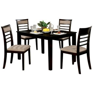 Hanska Wooden 5 Piece Counter Height Dining Table Set (Set of 5)