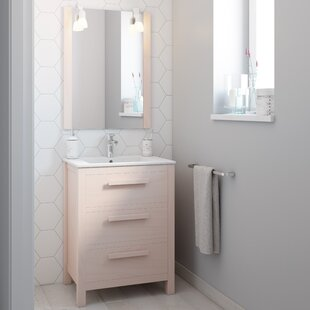 Amazonia Solid Pine 600mm Free-standing Single Vanity Unit By Bathforte, S.L