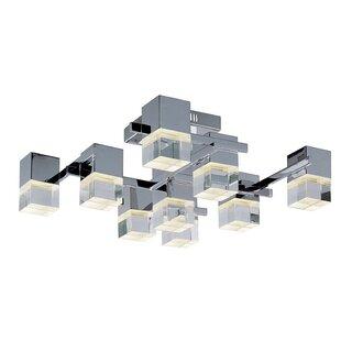 Orren Ellis Orpheus LED 9-Light Semi Flush Mount