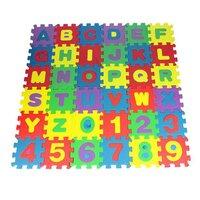 Deals on Set of 36 Child Number Alphabet Puzzle Interlocking Foam Playmat