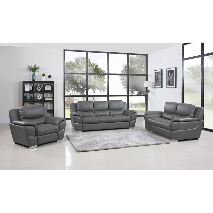 Red Barrel Studio Trower 3 Piece Living Room Set | Wayfair
