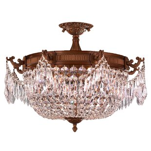 Reimer Antik 3-Light Semi-Flush Mount by Astoria Grand