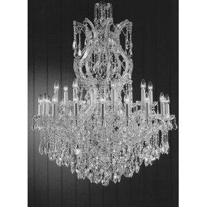 Alvarado 25-Light Crystal Glass Chandelier