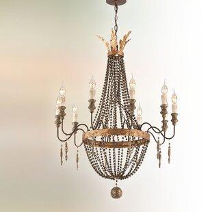 Wire chandelier wayfair beamer 10 light chandelier aloadofball Image collections
