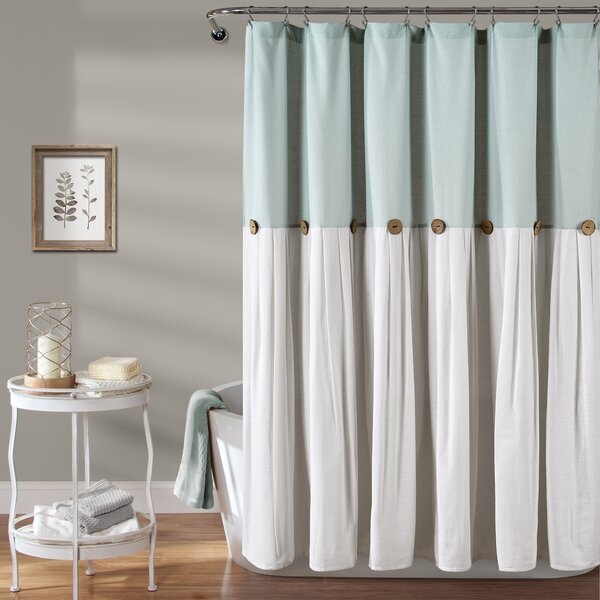 Shower Curtain With Snap Liner | Wayfair