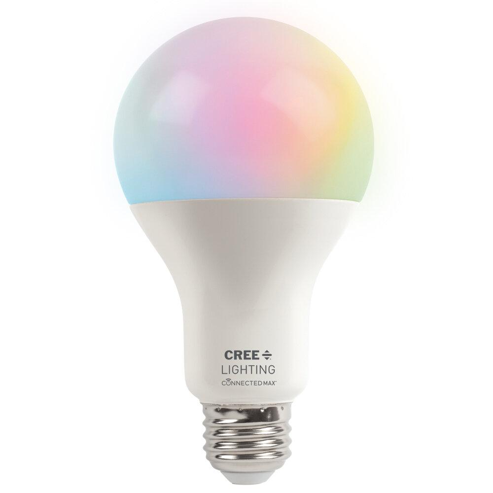 Cree 15 Watt (100 Watt Equivalent), A21 LED Smart, Dimmable Light Bulb,  Color Changing Tunable White E26/Medium (Standard) Base   Wayfair