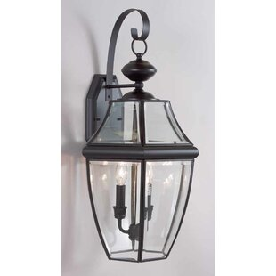 Affordable 3-Light Outdoor Wall Lantern By Volume Lighting