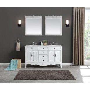 Genevieve 60 inch  Double Bathroom Vanity Set