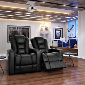 solid wood home theatre lounger row of 2