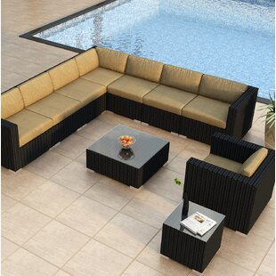 Harmonia Living Urbana 10 Piece Sectional Set with Cushions