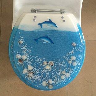 Daniels Bath Island of Dolphin Decorative Round Toilet Seat