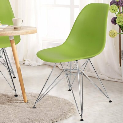 Patio Dining Chair AdecoTrading Finish: Green