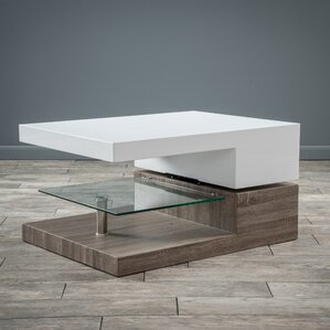 Delwood Coffee Table. Black Oak Delwood Coffee Table High Gloss White ...